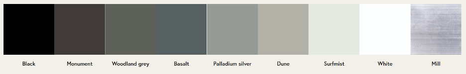 New Screening Colours