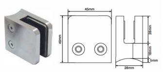 Slimline clamp - square front round back